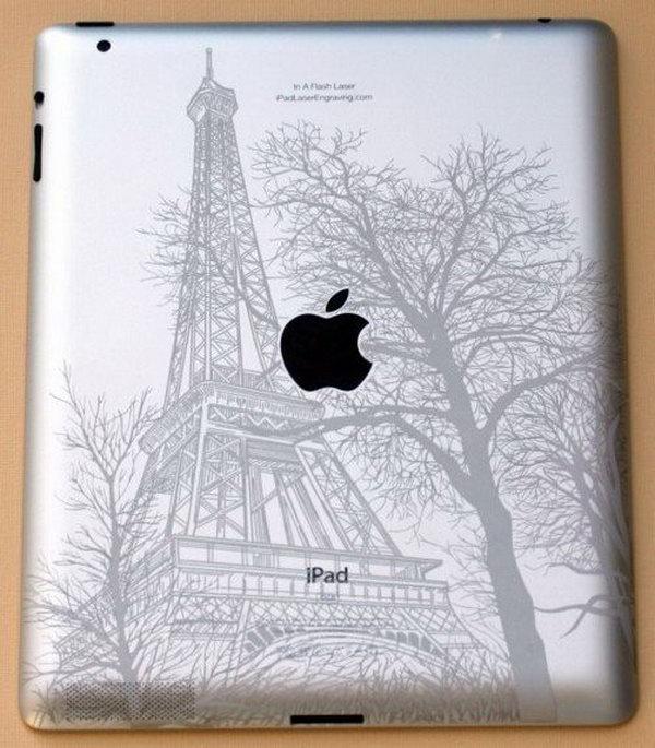 Eiffel Tower image iPad engraving ideas.