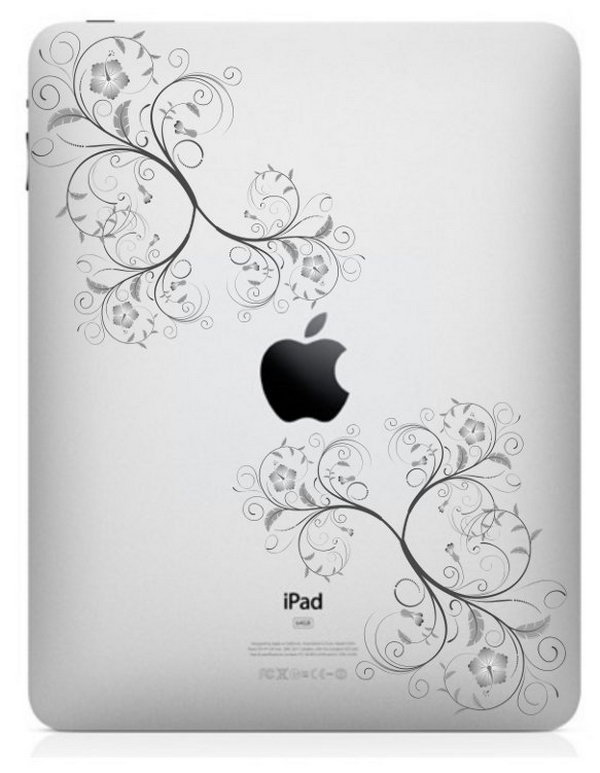 Flowers and Vines engraving idea for iPad. This will be loved by girls.
