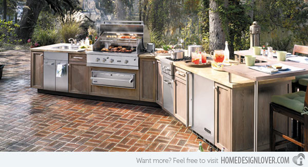 25 cool and practical outdoor kitchen ideas 2017 for Great outdoor kitchen ideas