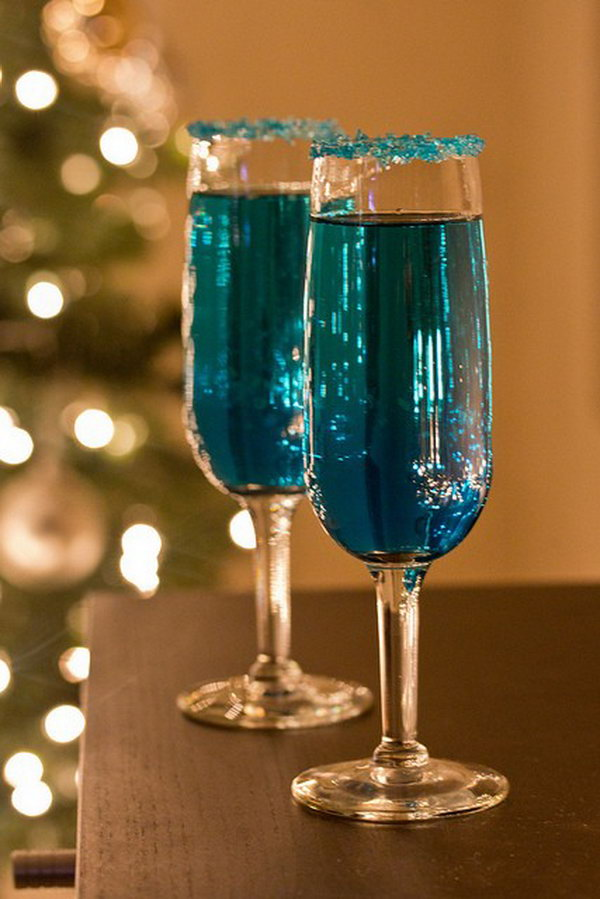 Blue Sparking Star Cocktail
