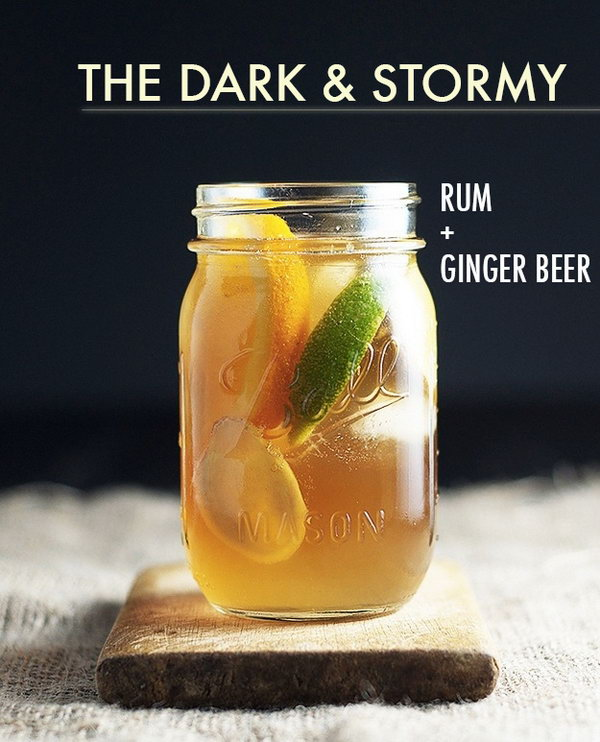 Chew Town Cheers Dark and Stormy Cocktai