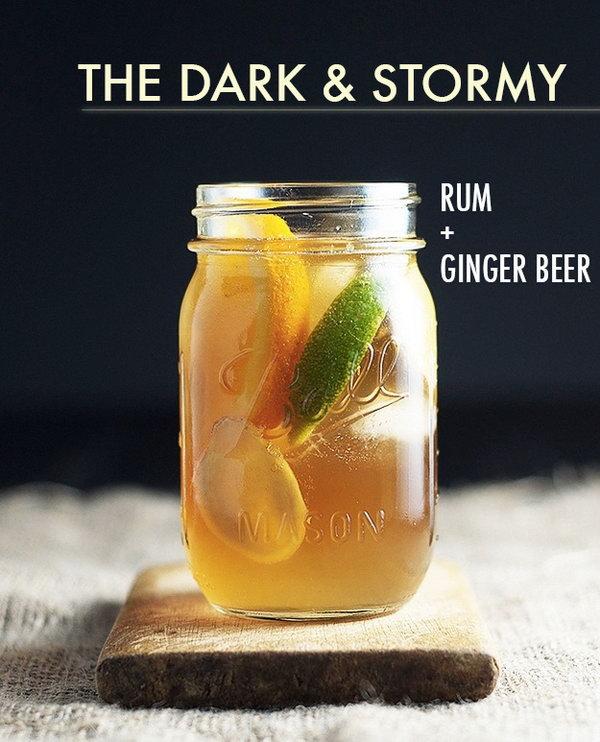 Chew Town Cheers Dark and Stormy Cocktai