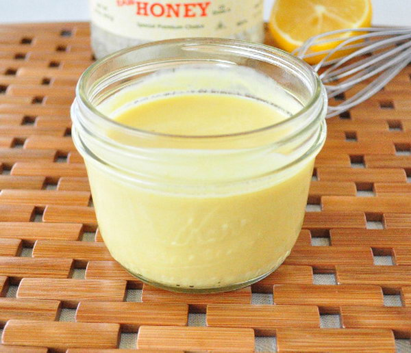 Healthy Honey Mustard Dressing. This healthy honey mustard is made with plain Greek yogurt, yellow mustard ,raw honey and lemon juice.  You most likely get all these ingredients at home. It is affordable and cost less to make.