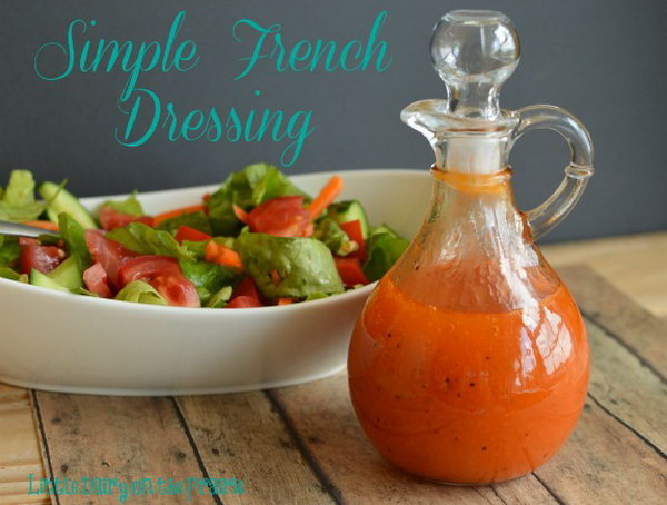 Simple French Dressing .Simple French Dressing has a perfect balance between the sweet and tangy.  It makes any green salad pop with flavor.