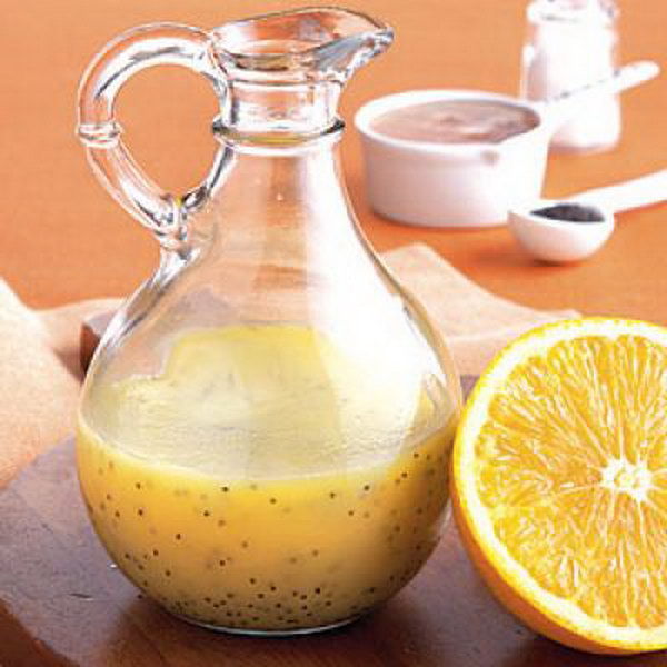 Orange-Poppy Seed Dressing. This poppy seed dressing is ideal for a fruit ,crisp salad.