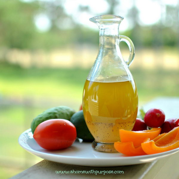 Tangy and Sweet Vinaigrette Salad Dressing. Here is a pretty homemade dressing. It is perfect for a fruit salad  for a summer dinner.