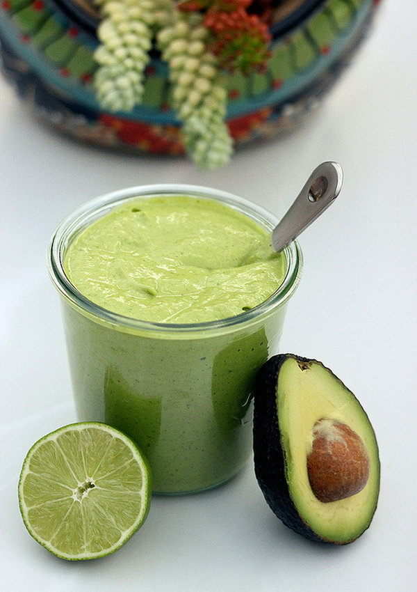 Creamy Avocado Salad Dressing. This is a great way to use up your avocados. This dressing is naturally gluten free and dairy free and perfect for vegans.
