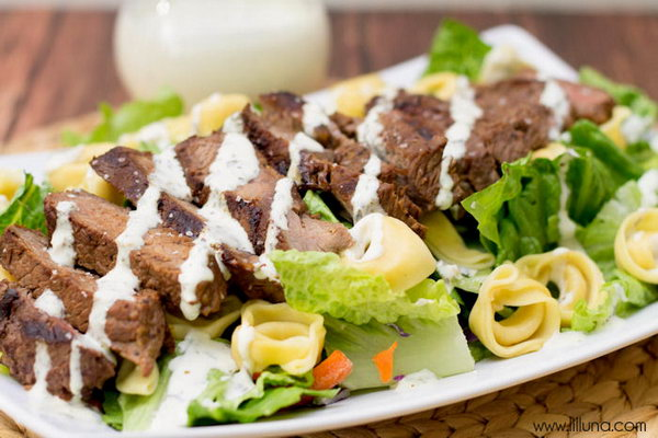 Steak and Tortellini Salad