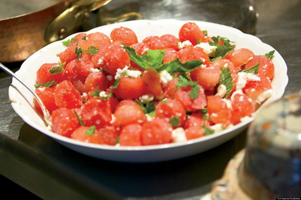 Watermelon Salad with Feta and Mint Recipe