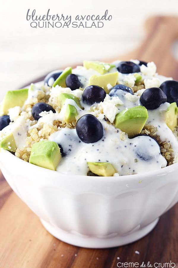 Blueberry Avocado Quinoa Salad
