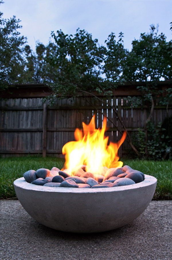 DIY Modern Concrete Fire Bowl