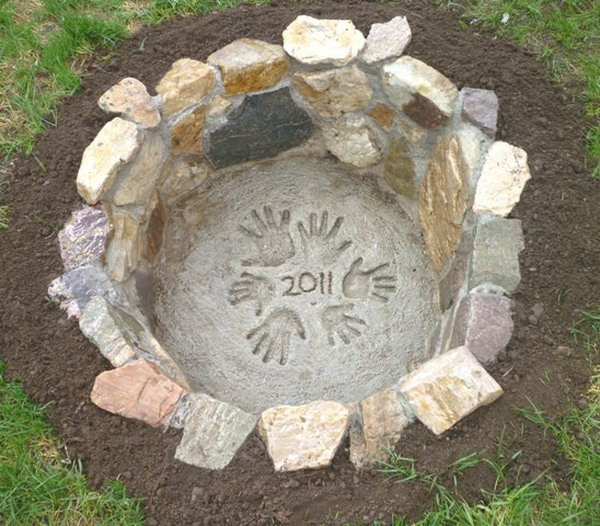 Cute Stone Fire Pit