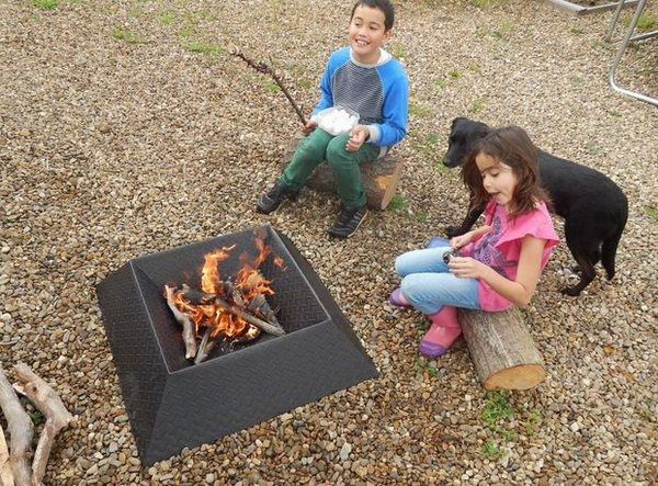 how to build a steel fire pit