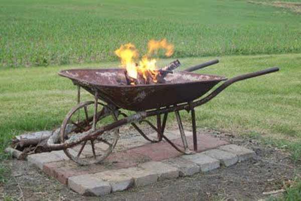 Fire Pit Wheelbarrow