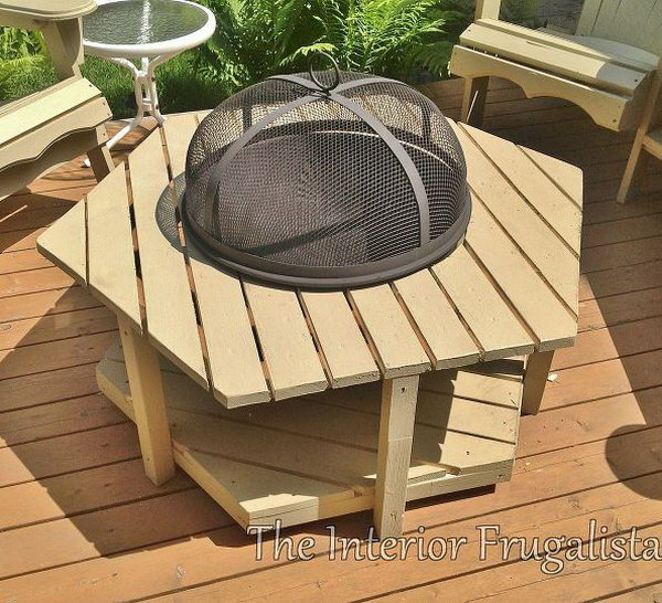 DIY Fire Pit with Fence Boards