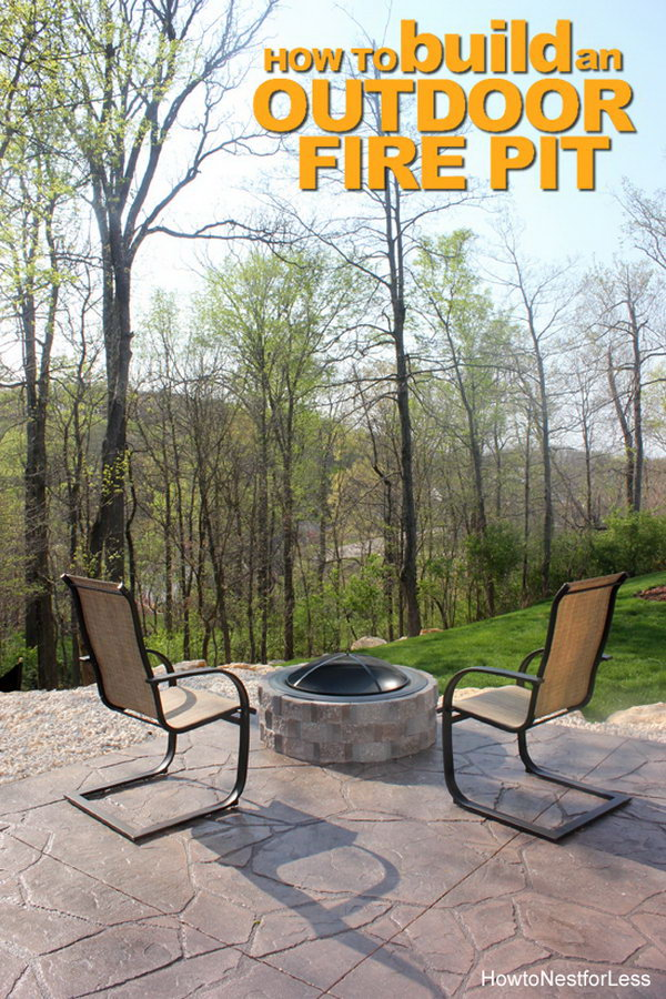 DIY Patio Fire Pit