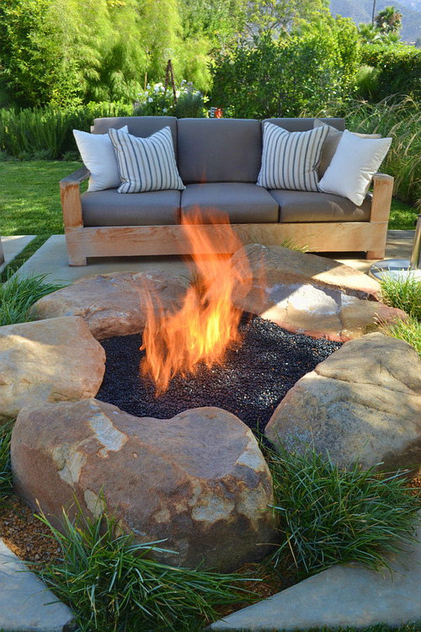 Real Stone Fire Pit