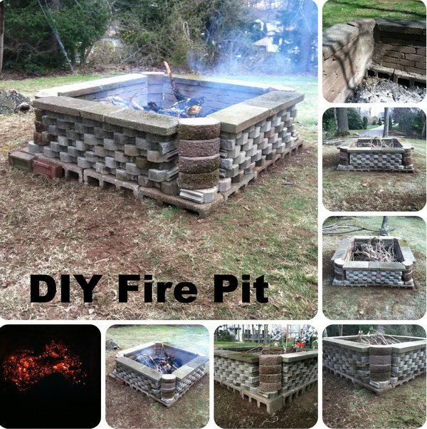 DIY Fire Pit Using Re-purposed Materials--Cinder Blocks