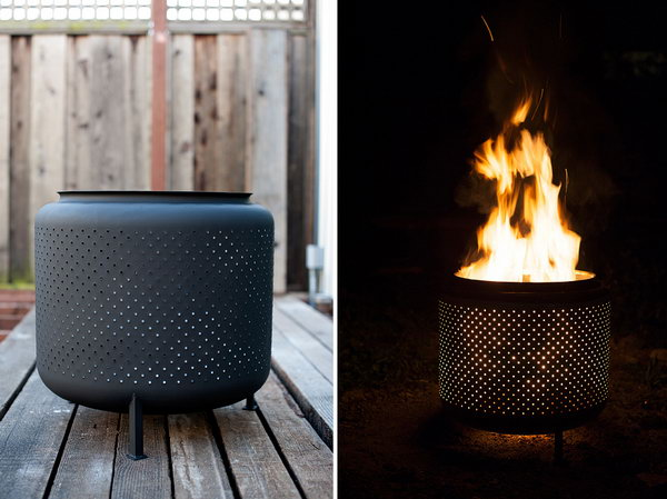Recycled Washing Machine Drum Fire Pit