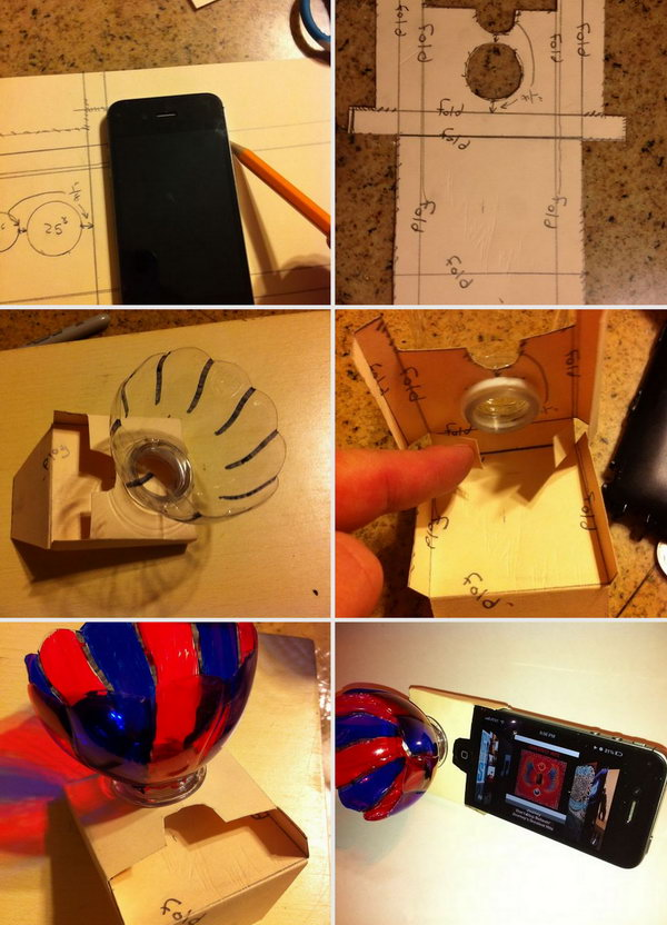 Recycled Plastic Water Bottle and Paper iPhone Amplifier: Use a empty water bottle and paper to make this simple, effective iPhone speaker to amplify the sound. It can be double as an iPhone kickstand for watching movies. See the tutorial