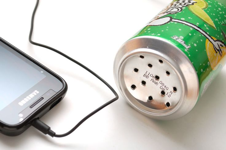 Soda Can Speaker. See the tutorial
