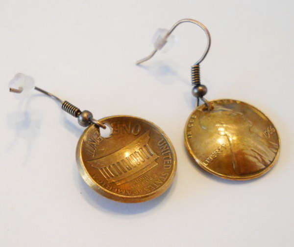 Lucky Penny Earrings. Perfect gifts for graduation, birthday, anniversary, etc.