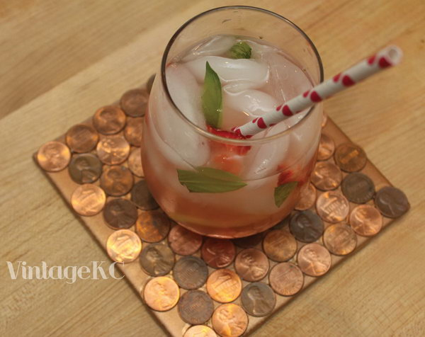Penny Coasters. The craft is quick and simple and the results are very attractive! Make some for yourself or to give as a gift.