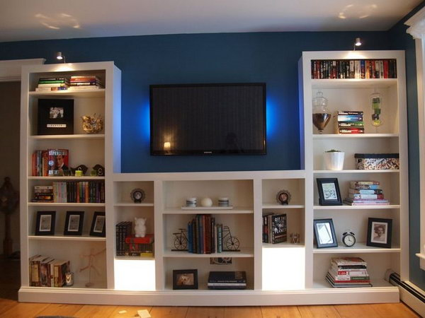ikea shelf lighting. Simple And Clever Transformation Of The IKEA BILLY Bookshelves By Modifing Adding Trim Lighting Ikea Shelf A