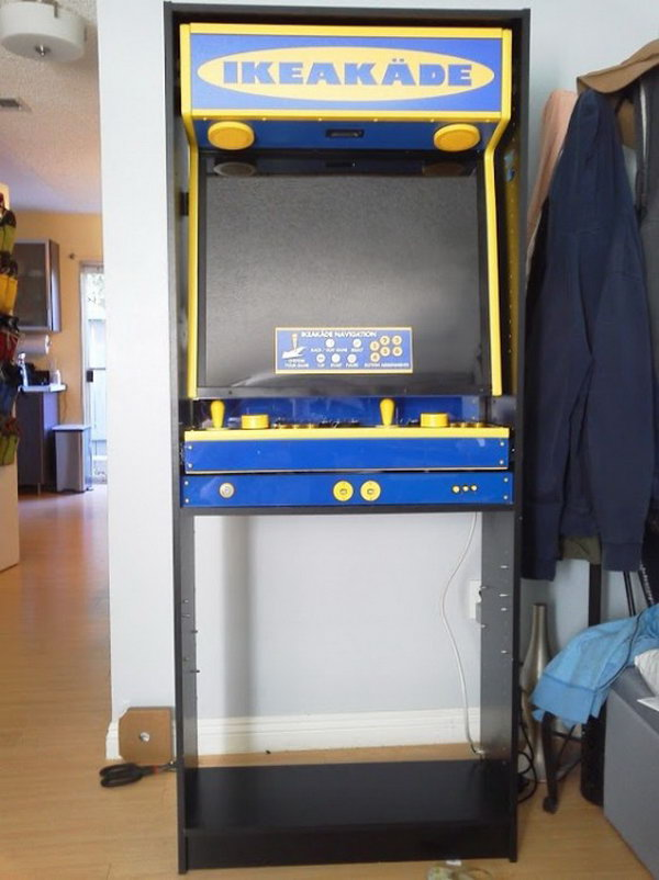 Use a BILLY bookshelf to build an IKEA arcade game. Based on the tutorial, it wasn't easy, but the result is awesome and worth. Check out the directions