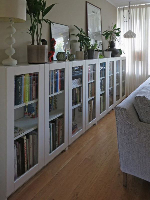 diy billy bookcases with grytns glass doors