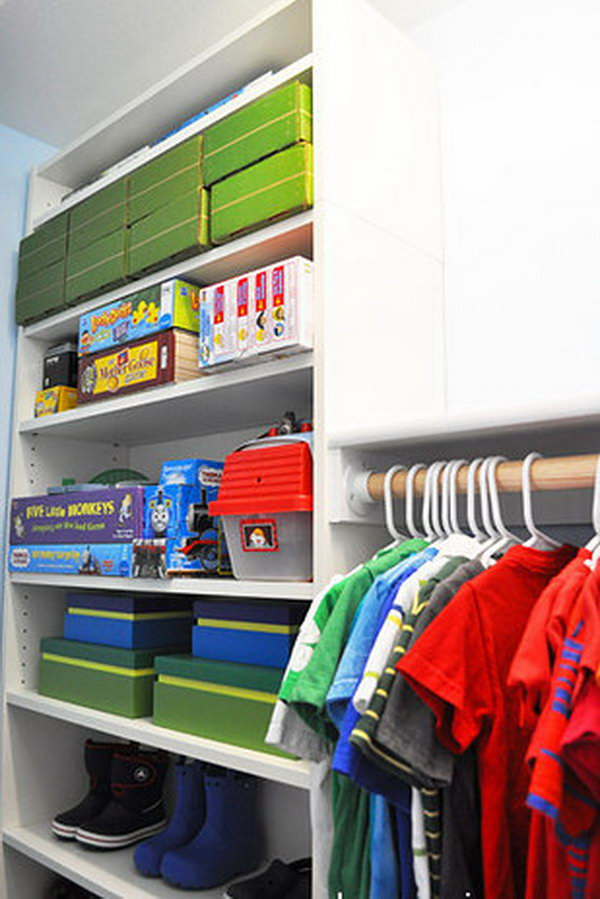 Create A Custom Closet With BILLY Bookshelves