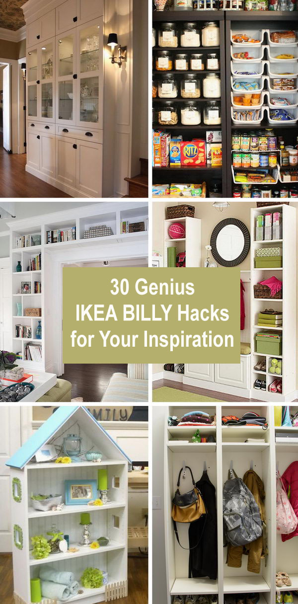 30 Genius IKEA BILLY Hacks for Your Inspiration.