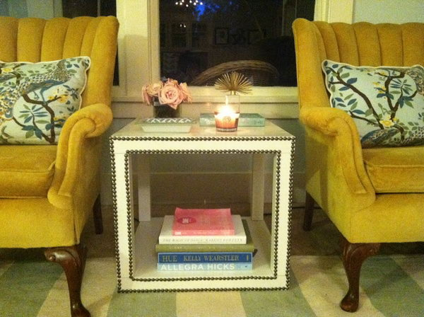 Nailhead Side Table. Another creative and easy way to add a touch of style to the Lack coffee table. See more details