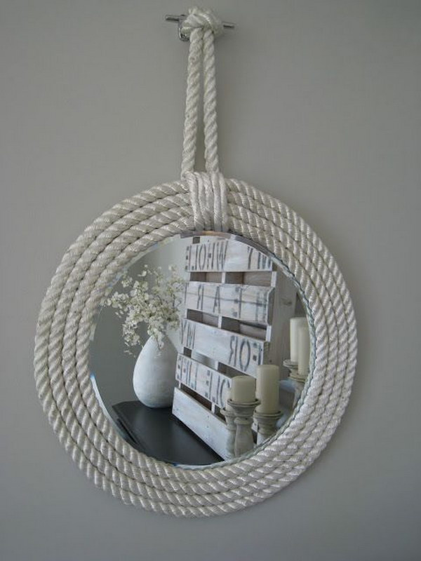 DIY Nautical Paracord Mirror