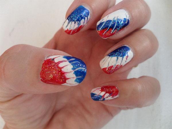 30 Flashing Patriotic 4th Of July Fireworks Inspired Nail Art Ideas Amp Tutorials 2017