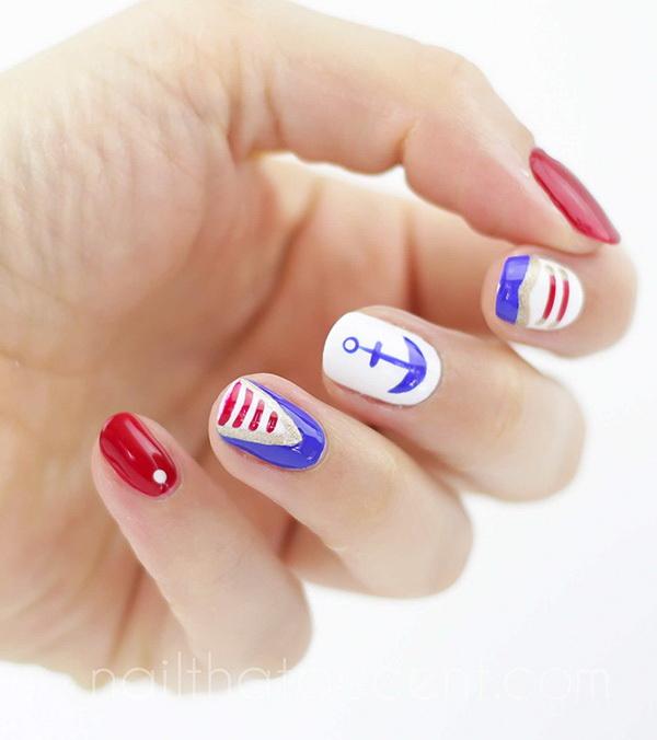 Nail Art Tutorial Nautical Nail Art Using Cuccio: 20+ Beautiful Patriotic Nautical Nail Art Ideas 2017