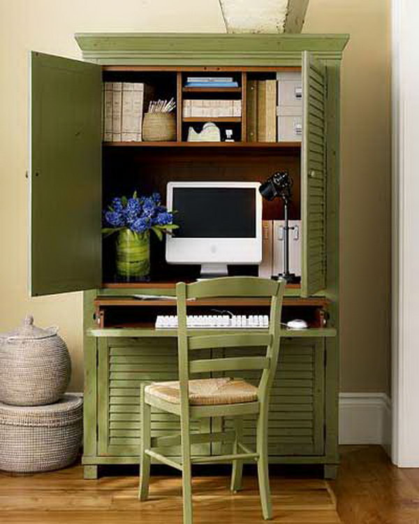 its a good idea to close off the computer area bright idea home office ideas