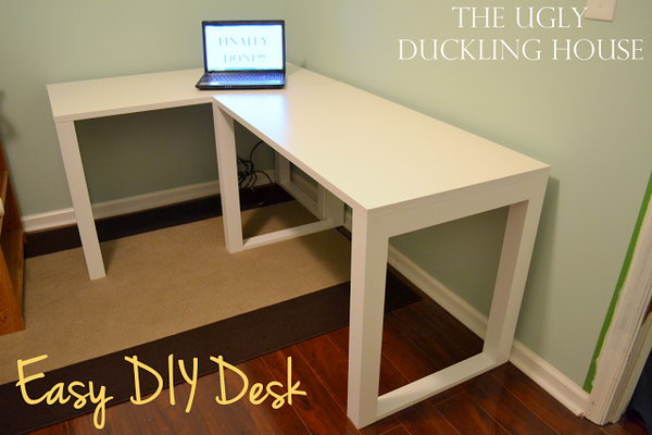 15 Diy Computer Desks Tutorials For Your Home Office 2017