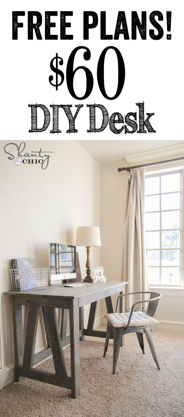 15 diy computer desks tutorials for your home office 2017 free and easy diy desk solutioingenieria Images