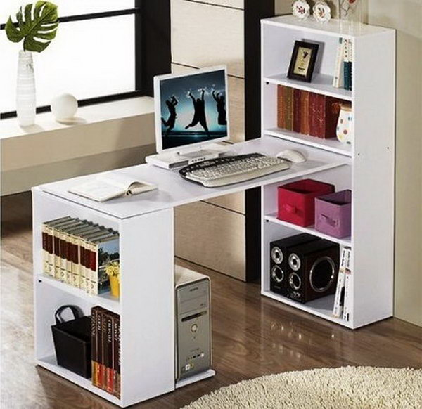15 diy computer desks tutorials for your home office 2017 - Bureau simple pas cher ...