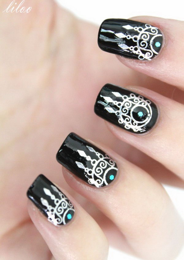 35+ Cool Dream Catcher Nail Designs for Native American ...