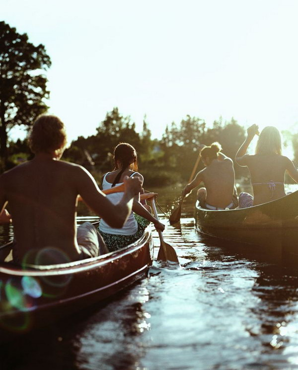 Go Rowing. Take your buddy to a row boat gliding around a lake. You can take turns to master the oars to bring the relationship closer.