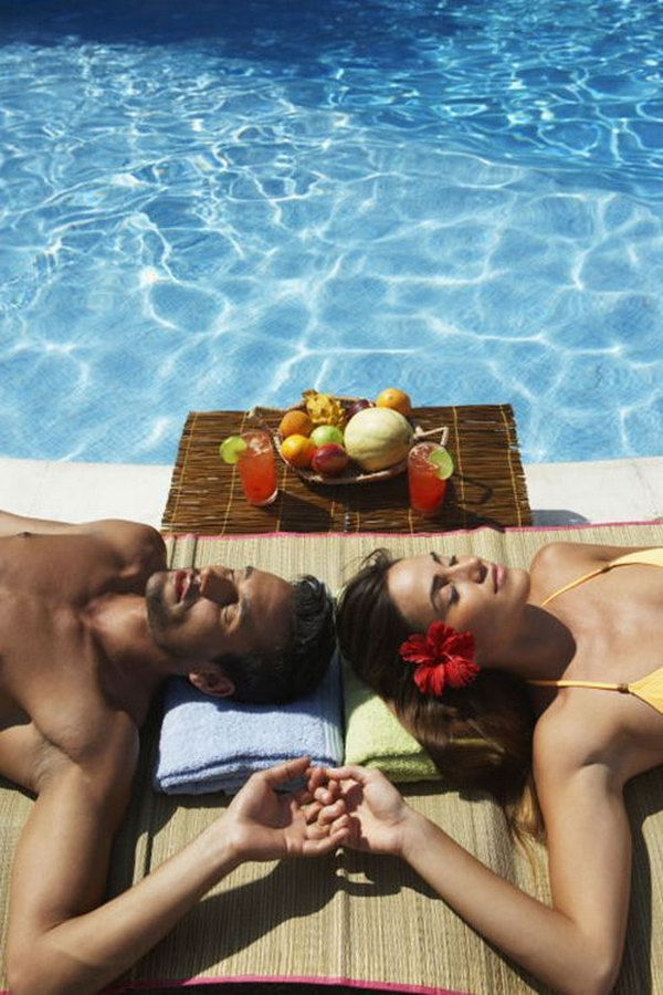 Go to the Spa. Invite your girlfriend to the spa to relax completely from all the bustle and noises of rural life.