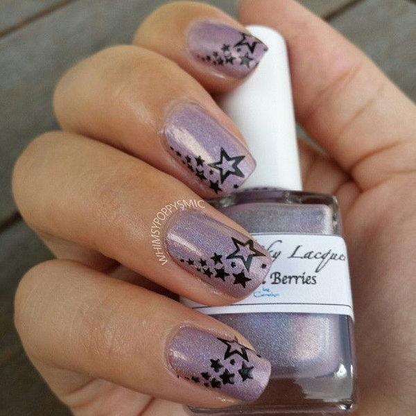 Purple Star Nails. This is all sorts of perfect! I love it, so clever! :)