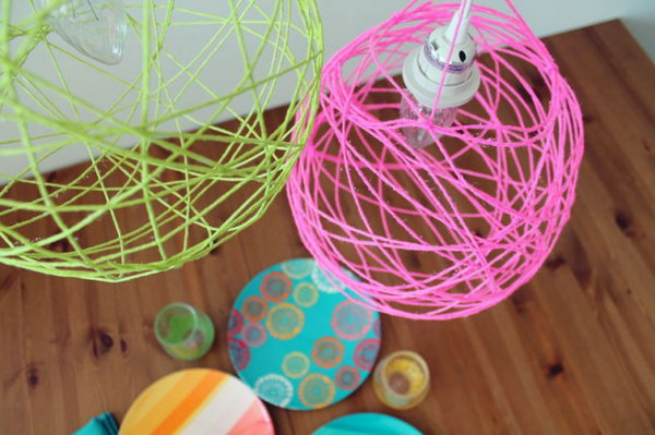 Illuminated Yarn Lanterns.