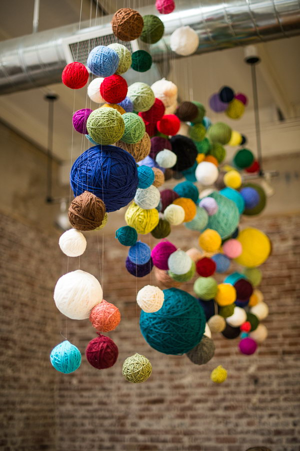 Yarn Ball Chandelier.