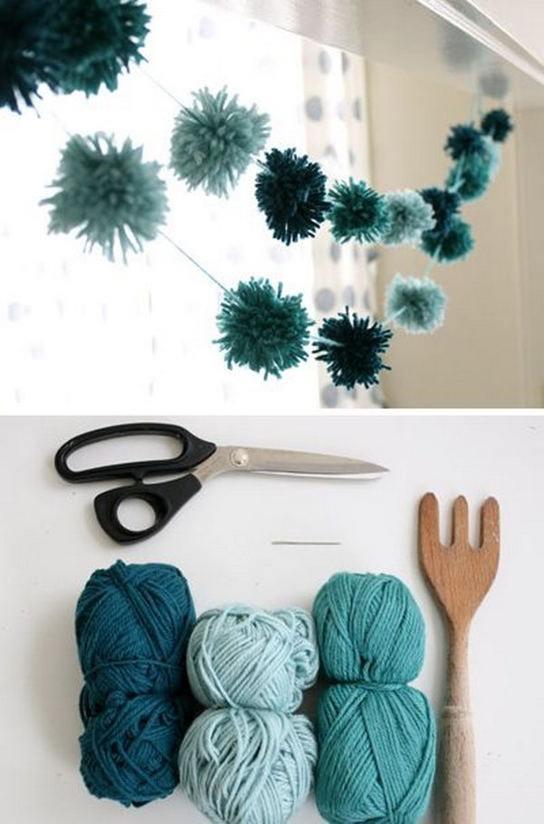 25 DIY Yarn Crafts Tutorials Ideas for Your Home Decoration 2017