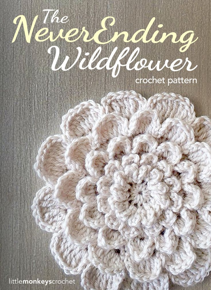 Crochet Flower Free Pattern. See how