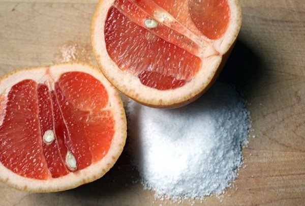 Grapefruit and Salt Tub Cleaner. See the instructions