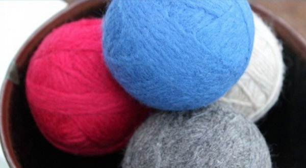 Homemade Wool Dryer Balls. See the steps